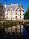 Chateau d'Azay-Le-Rideau on the Indre River, Azay-Le-Rideau, France Photographic Print by Diana Mayfield