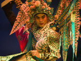Performer in Chinese Opera, Sheng Hong Temple, Singapore, Singapore Photographic Print by Michael Coyne