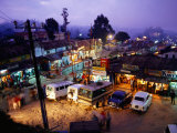 Shops and Stalls at Dusk, Kodaikanal, Tamil Nadu, India Photographic Print by Greg Elms