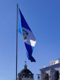 Guatemalan Flag Flying Over Municipalidad (Town Hall), Quetzaltenango, Guatemala Photographic Print by Ryan Fox