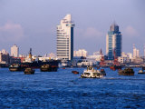 Tour Boats on Huangpu River, Shanghai, China Photographic Print by Phil Weymouth
