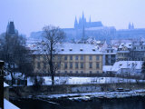 Mala Strana and Prague Castle from Charles Bridge, Prague, Czech Republic Photographic Print by Richard Nebesky