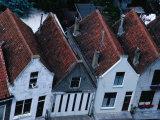 Overview of Rooftops and House Facades in Zierikzee, Zeeland,Netherlands Fotoprint van Jeffrey Becom