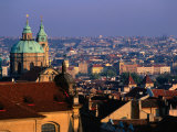View of City from the Rooftops, Prague, Central Bohemia, Czech Republic Photographic Print by Jan Stromme