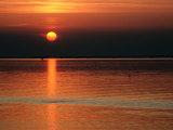 Sunset on Lagoon Near the Lido, Venice, Veneto, Italy Photographic Print by Roberto Gerometta