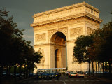 Arc De Triomphe at Dusk, Paris, France Fotoprint van Brent Winebrenner