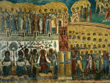 "Detail of ""Last Judgement"" Fresco from Sucevita Monastery in Moldavia, Sucevita, Romania, Photographic Print by Diana Mayfield"
