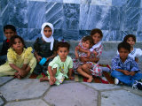 Children Outside Al Kufa Mosque, Al Kufah, an Najaf, Iraq Photographic Print by Jane Sweeney