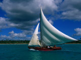 Typical Fishing Sailboat, Bayahibe, La Romana, Dominican Republic Photographic Print by Greg Johnston
