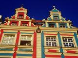 House Facades in Old Town Square, Wroclaw, Poland Fotoprint van Krzysztof Dydynski
