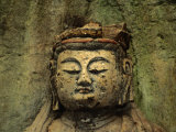 Dainichi Buddha Head in Usuki, Japan Photographic Print by Martin Moos