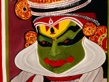 Kathakali Poster, Kochi, India Photographic Print by Eddie Gerald