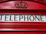 Detail of Old Public Telephone Box, London, United Kingdom Photographic Print by Charlotte Hindle