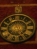 Historic Clock on Tower of Wawel Cathedral, Krakow, Malopolskie, Poland Photographic Print by Krzysztof Dydynski