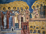 Last Judgement Fresco of Voronet Monastery, Voronet Monastery, Suceava, Romania, Photographic Print by Diana Mayfield