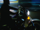 Motorbike on Main Street at Bike Week, Daytona Beach, Florida, USA Photographic Print by Lawrence Worcester