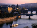 Boating Up the Valta River, Prague, Central Bohemia, Czech Republic Photographic Print by Jan Stromme