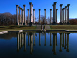 Capitol Columns Reflected in a Pool in the Gardens of US National Arboretum, Washington Dc, USA Photographic Print by Rick Gerharter