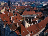Rooftops of the Historic City, Prague, Central Bohemia, Czech Republic Photographic Print by Jan Stromme
