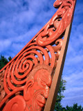 Waka (Canoe) Prow Statue, Gisborne, Gisborne, New Zealand Photographic Print by David Wall