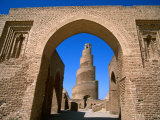 Spiral Minaret of Abu Duluf Mosque Samarra, Salah Ad Din, Iraq Photographic Print by Jane Sweeney