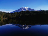 Mt. Rainier Reflected in Reflection Lake, Mt. Rainier National Park, USA Photographic Print by Brent Winebrenner