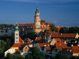 Castle, White Tower and St. Jost Church, Cesky Krumlov, Czech Republic Photographic Print by Witold Skrypczak