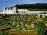 Chateau De Villandry Vegetable Garden, Villandry, France Photographic Print by Diana Mayfield