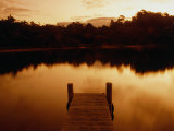 Pier Overlooking Still Water, Mallacoota, Victoria, Australia Photographic Print by Greg Elms