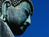 Detail of Daibutsu Statue ('Big Buddha'), Built in 1252, Kamakura, Kanto, Japan Photographic Print by Eric Wheater
