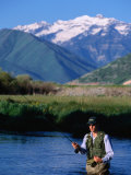 Fly-Fishing in Utah's Provo River, Provo, Utah, USA Photographic Print by Cheyenne Rouse