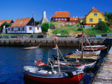 Small Village Harbour, Gudhjem, Bornholm, Denmark Photographic Print by Anders Blomqvist