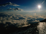 Sun Over Clouds at Mount Fuji, Mt. Fuji, Japan Photographic Print by Martin Moos