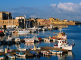 Fishing Boats Moored in Harbour,Hania, Crete, Greece Photographic Print by John Elk III