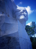 White Marble Monument of Vladimir Ilyich Lenin in Parque Lenin, Havana, Cuba Photographic Print by Charlotte Hindle