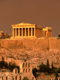 Acropolis and Parthenon from Filopappou Hill, Athens, Greece Photographic Print by Anders Blomqvist