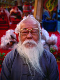 Portrait of an Elderly Man with Grey Beard, Tainan, Taiwan Photographic Print by Martin Moos