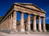 Ancient Doric Temple, Segesta, Sicily, Italy Photographic Print by Stephen Saks