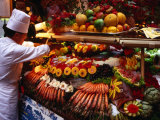 Chef Creating Restaurant Display, Brussels, Belgium Photographic Print by Rick Gerharter