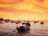 Fishing Boats at Tanjong Bunga, Malaysia Photographic Print by Manfred Gottschalk