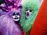 Revellers in Lavish Costumes and Wigs at Brazil's Famous Annual Carnival, Rio de Janeiro, Brazil, Photographic Print