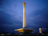 National Monument (Monas), Merdeka Square, Jakarta, Indonesia Photographic Print by Glenn Beanland