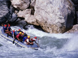 Raft Going into Big Dipper Rapid at Sun Kosi River, Bagmati, Nepal Photographie par Anders Blomqvist