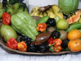 Display of Local Tropical Fruit, Martinique Fotodruck von Jean-Bernard Carillet