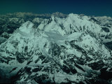 Aerial View of Himalayan Ranges from Flight Between Lhasa and Kathmandu, Tibet Photographic Print by Richard I'Anson
