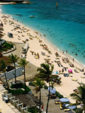 Overlooking Beach Activities on Paradise Island, Paradise Island, Bahamas Photographic Print by Michael Lawrence