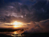 Sunrise Over Midway Geyser Basin Yellowstone National Park, Wyoming, USA Photographic Print by Rob Blakers