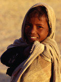Portrait of Young Boy from Ba Bai Village, Rajasthan, India Photographie par Richard I'Anson