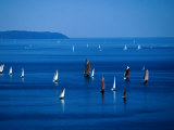 Sailing Boats in Bay, Brest, France Photographic Print by Jean-Bernard Carillet