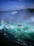 Maid of the Mist Tour Boat in Turbulent Water, Niagara Falls, Ontario, Canada Photographic Print by Setchfield Neil